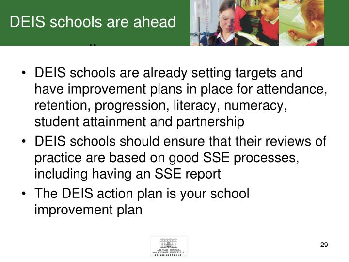 DEIS schools are ahead