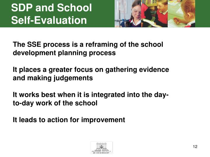 SDP and School Self-Evaluation