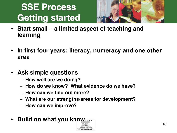 SSE Process Getting started