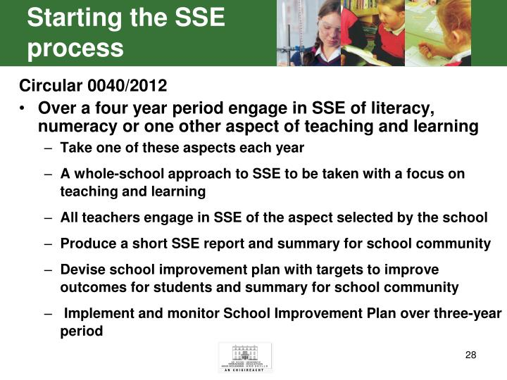 Starting the SSE process
