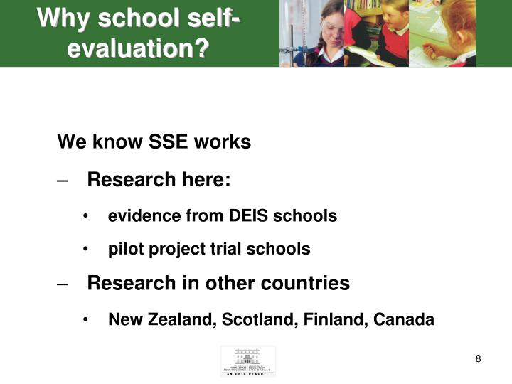 Why school self-evaluation?