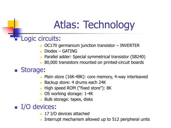 Atlas: Technology