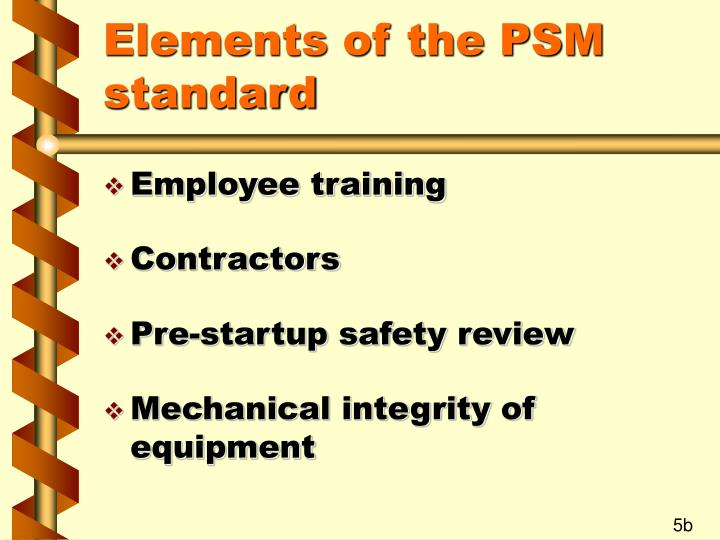 Elements of the PSM standard