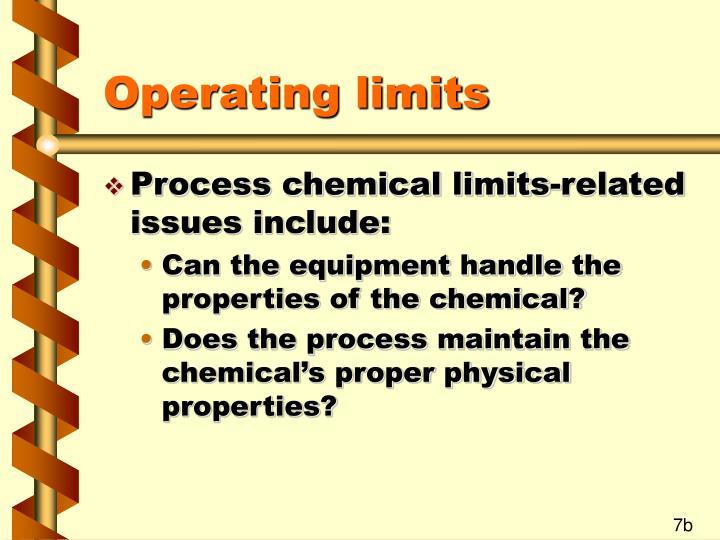 Operating limits