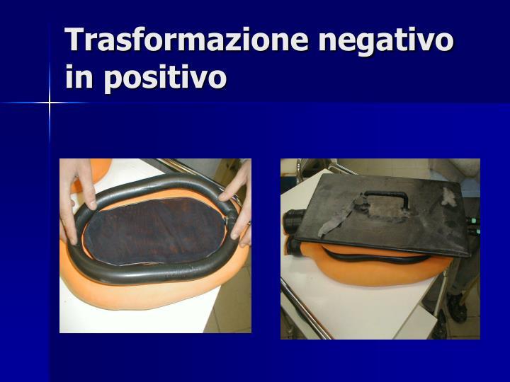 Trasformazione negativo in positivo