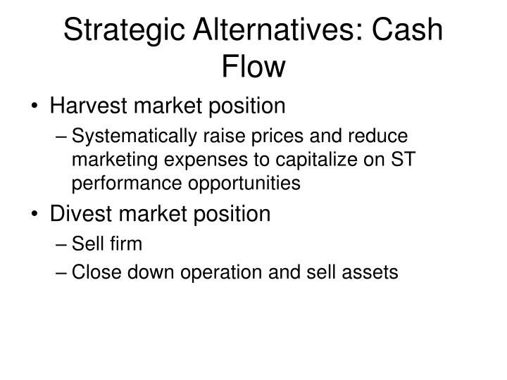 Strategic Alternatives: Cash Flow