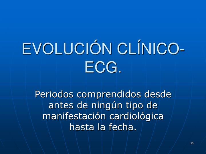 EVOLUCIÓN CLÍNICO-ECG.