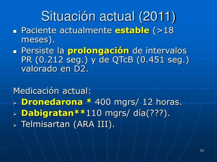 Situación actual (2011)