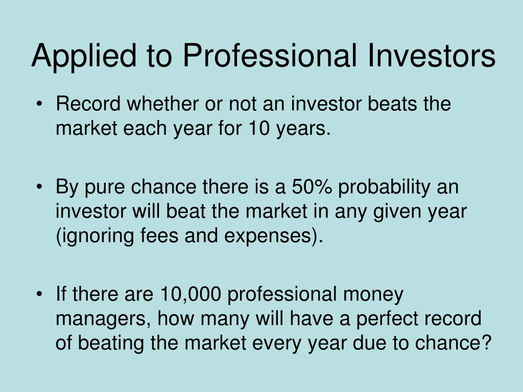 Applied to Professional Investors