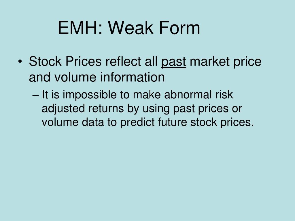 EMH: Weak Form
