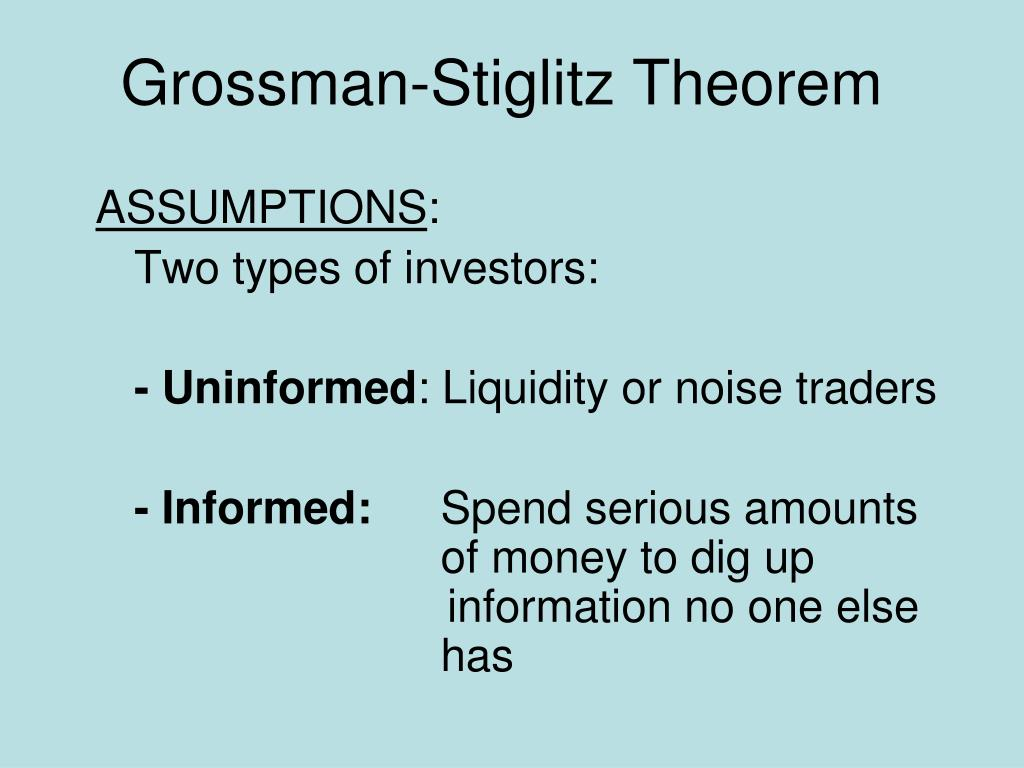 Grossman-Stiglitz Theorem