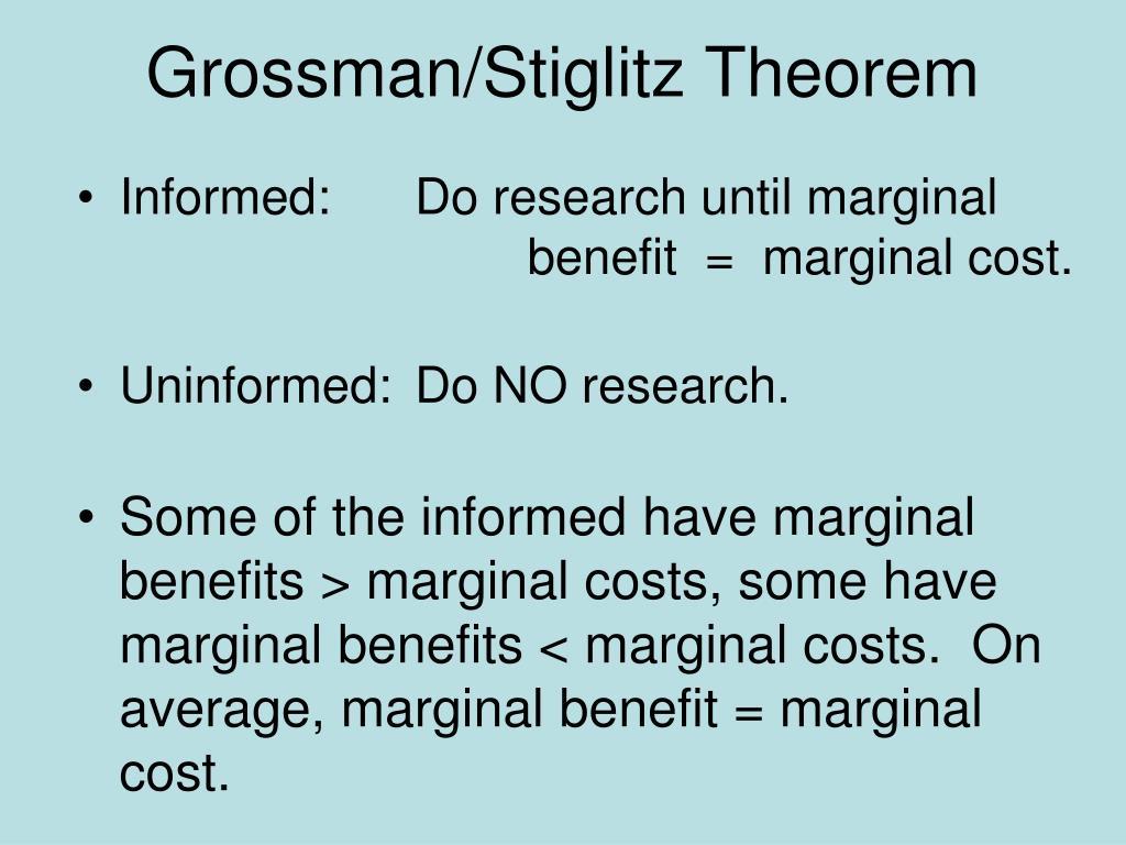 Grossman/Stiglitz Theorem