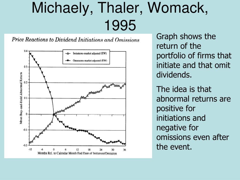 Michaely, Thaler, Womack, 1995