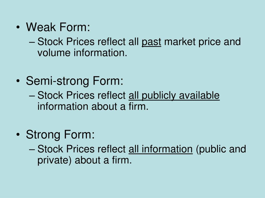Weak Form: