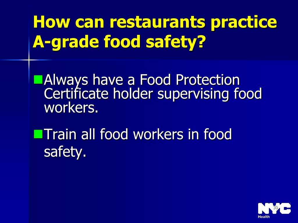 How can restaurants practice A-grade food safety?