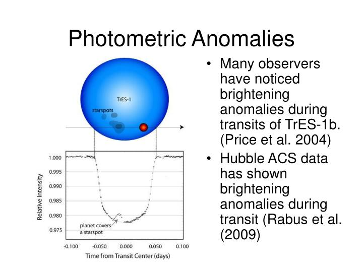 Photometric Anomalies