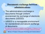 documents exchange between administrations