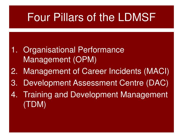 Four Pillars of the LDMSF