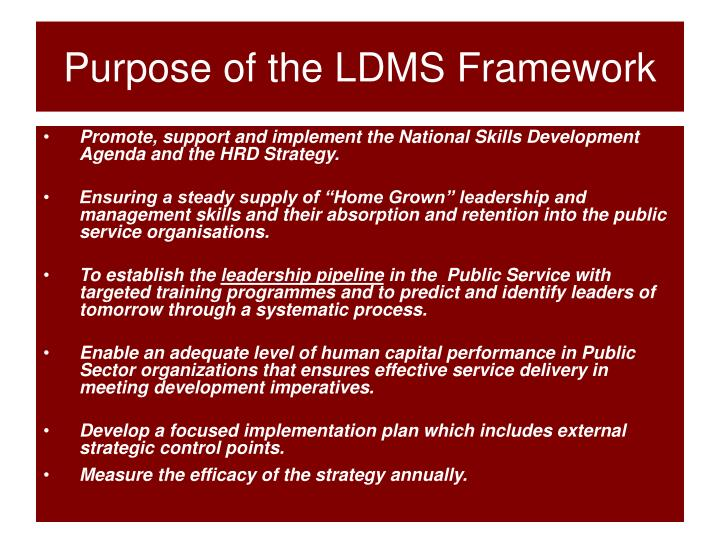 Purpose of the LDMS Framework