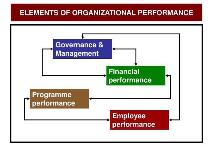 ELEMENTS OF ORGANIZATIONAL PERFORMANCE