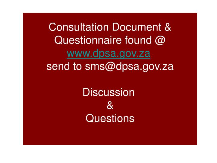 Consultation Document &