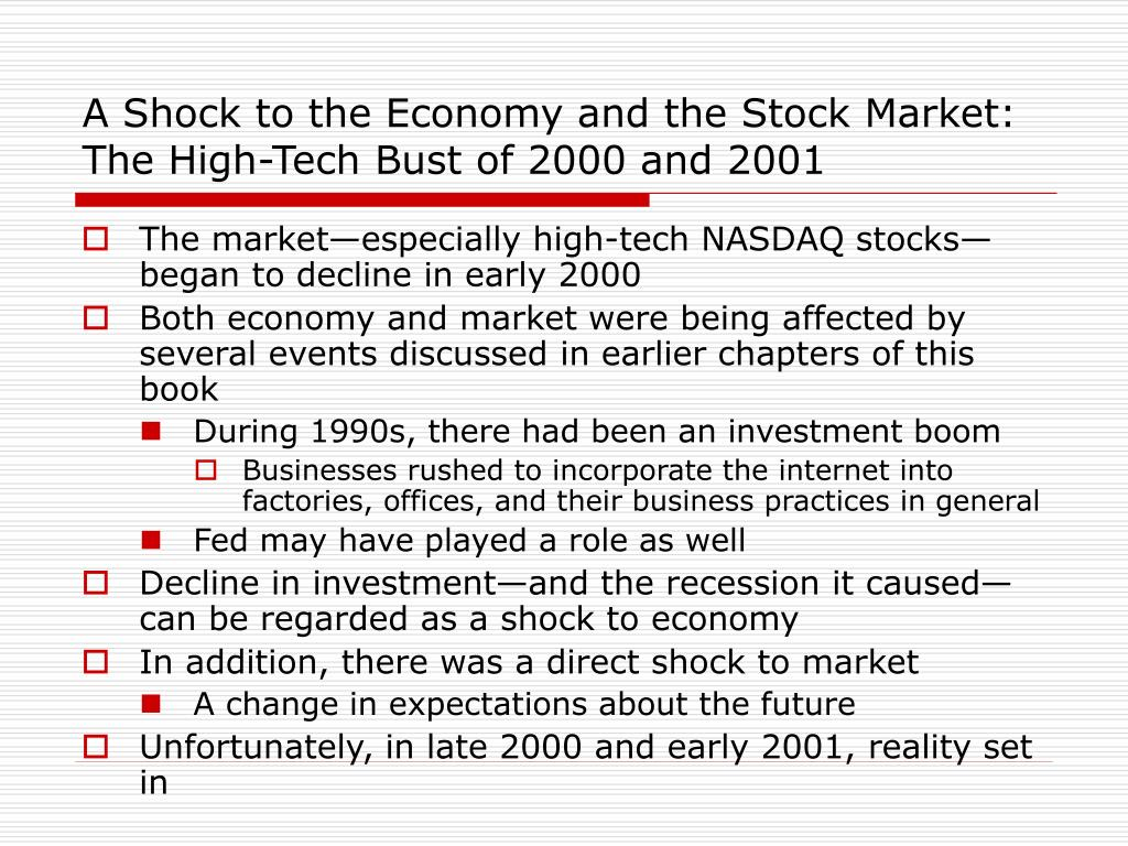 A Shock to the Economy and the Stock Market: The High-Tech Bust of 2000 and 2001
