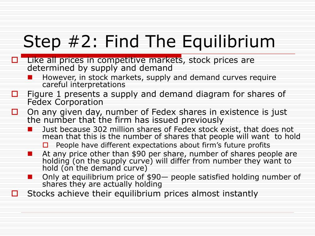 Step #2: Find The Equilibrium