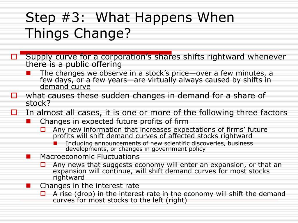 Step #3:  What Happens When Things Change?