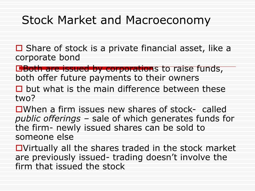 Stock Market and Macroeconomy