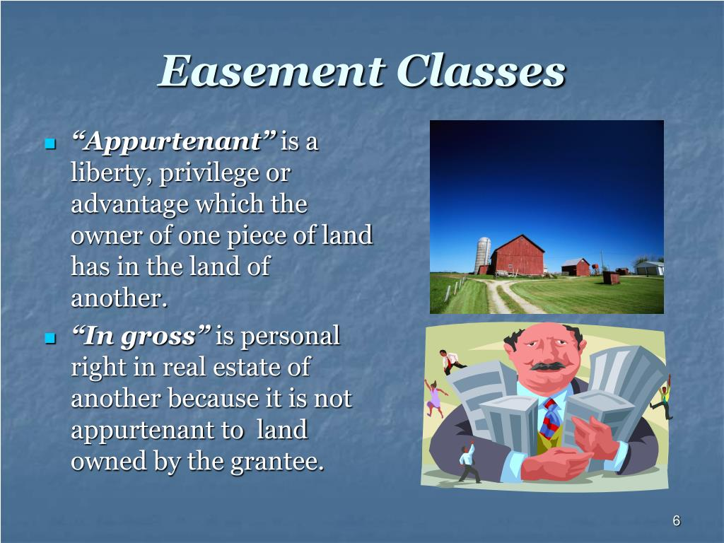 Easement Classes