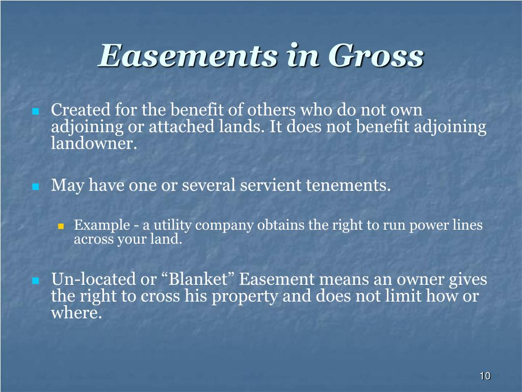 Easements in Gross