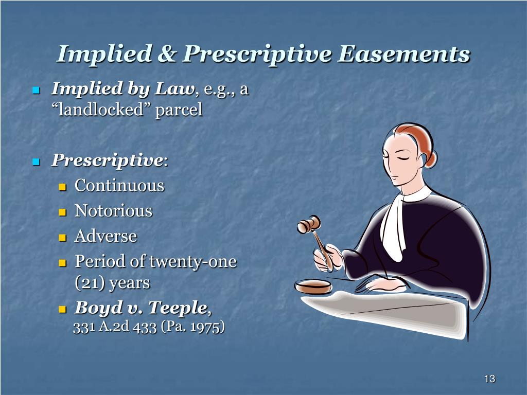 Implied & Prescriptive Easements