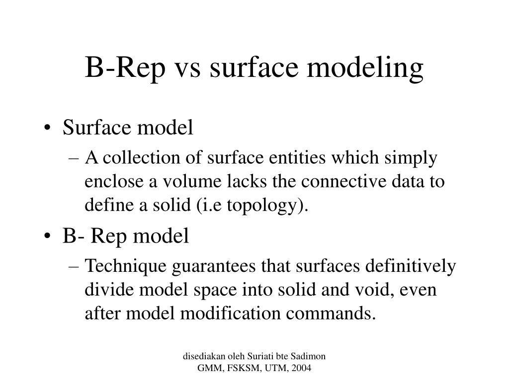 B-Rep vs surface modeling