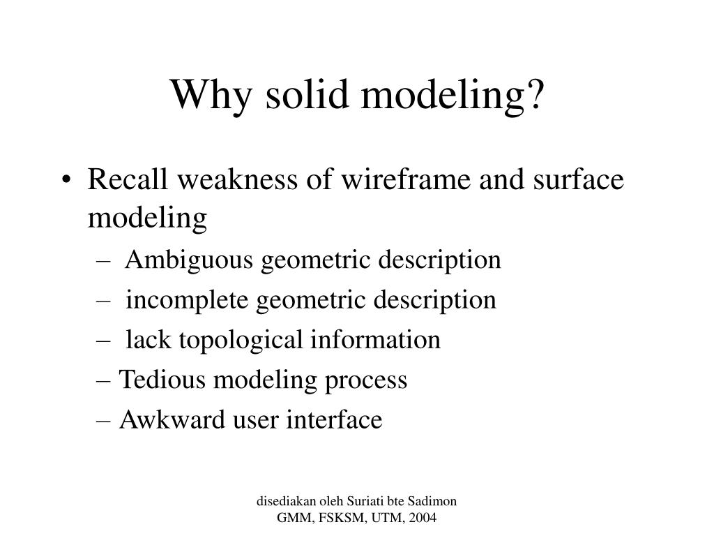 Why solid modeling?