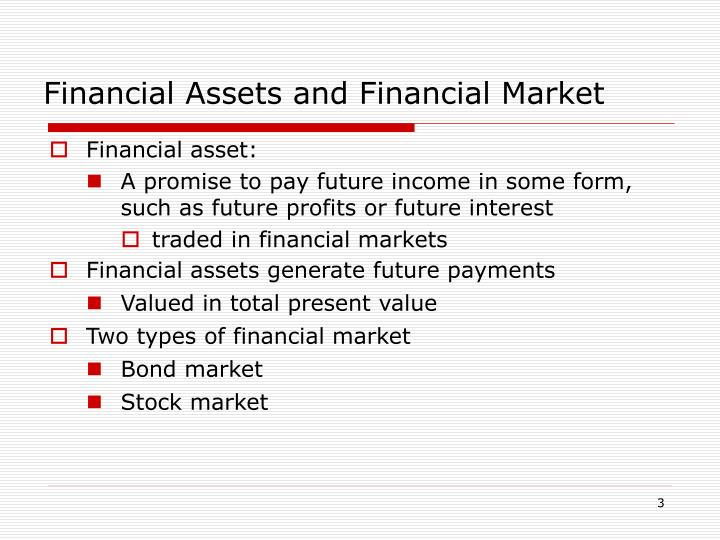 Financial assets and financial market