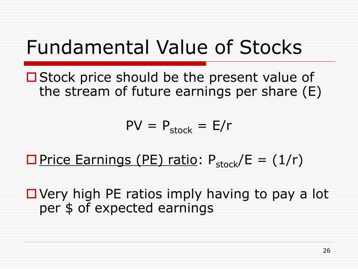 Fundamental Value of Stocks