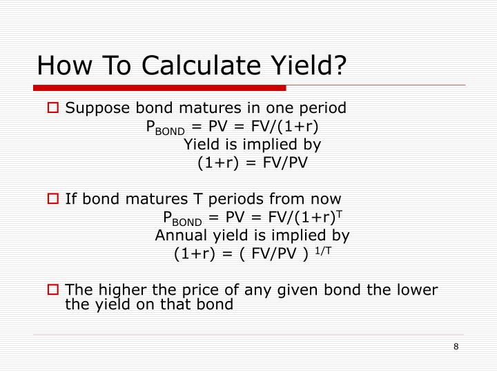 How To Calculate Yield?