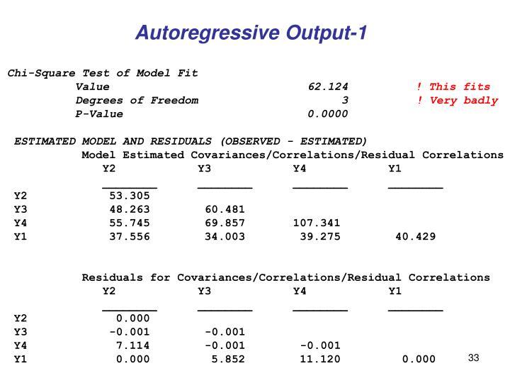 Autoregressive Output-1