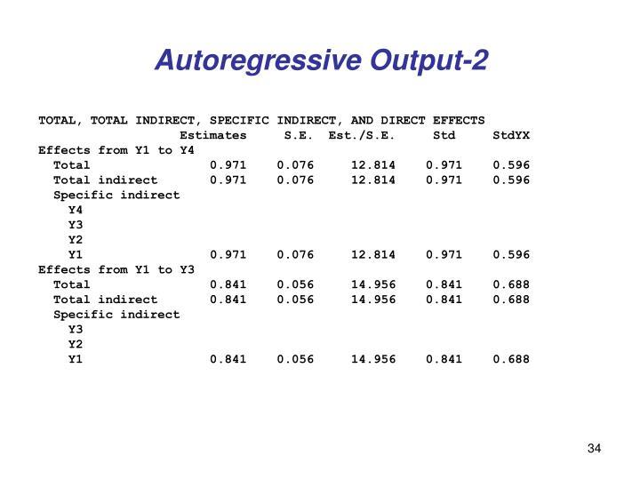 Autoregressive Output-2