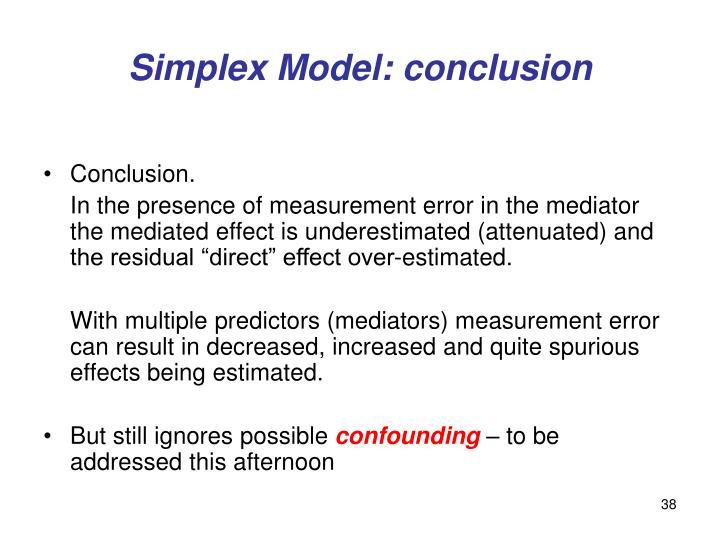 Simplex Model: conclusion