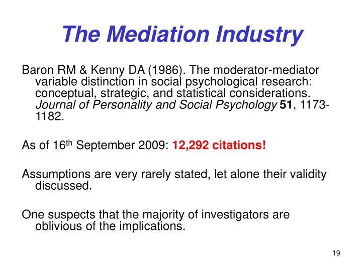 The Mediation Industry