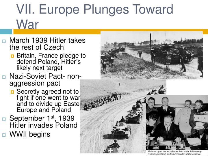 VII. Europe Plunges Toward War