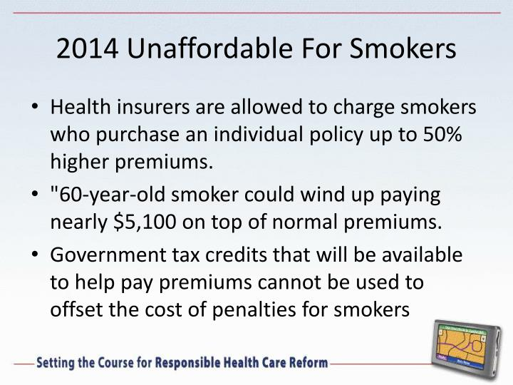 2014 Unaffordable For Smokers
