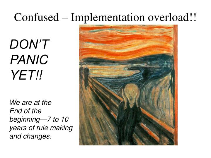 Confused – Implementation overload!!