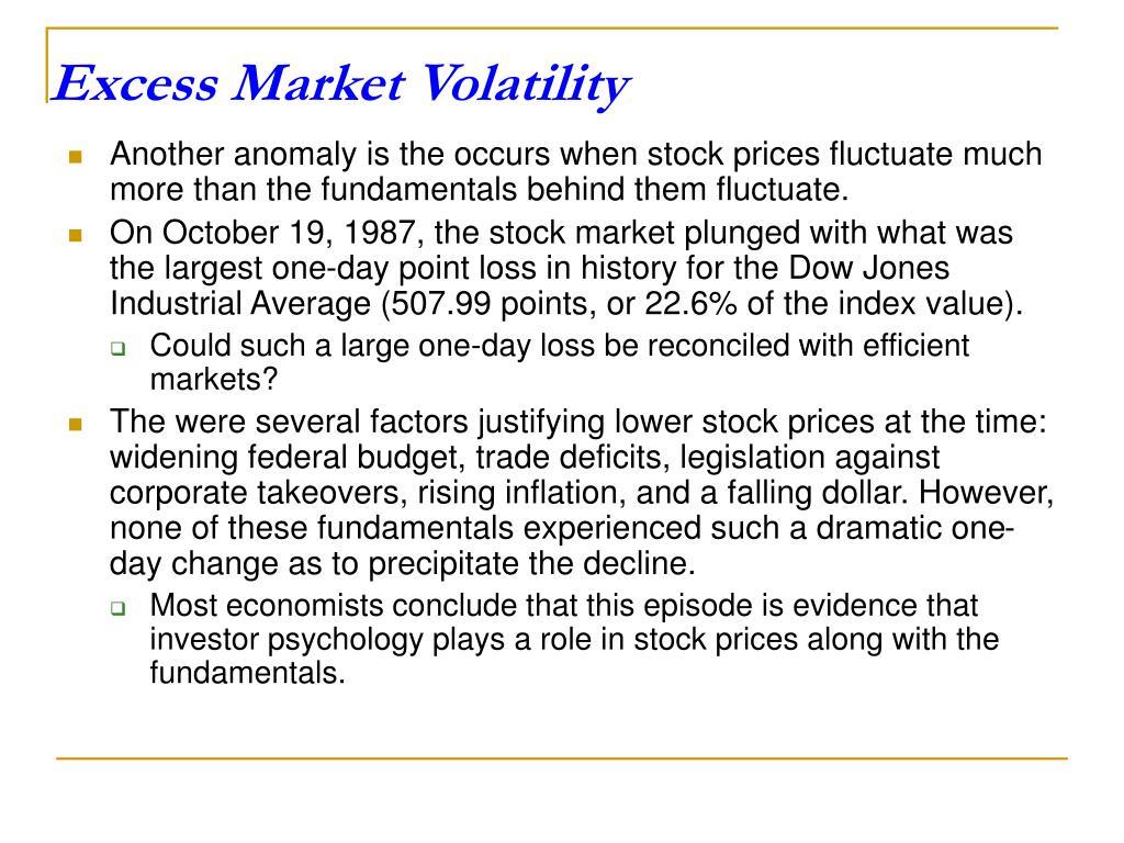 Excess Market Volatility