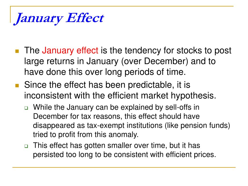 January Effect