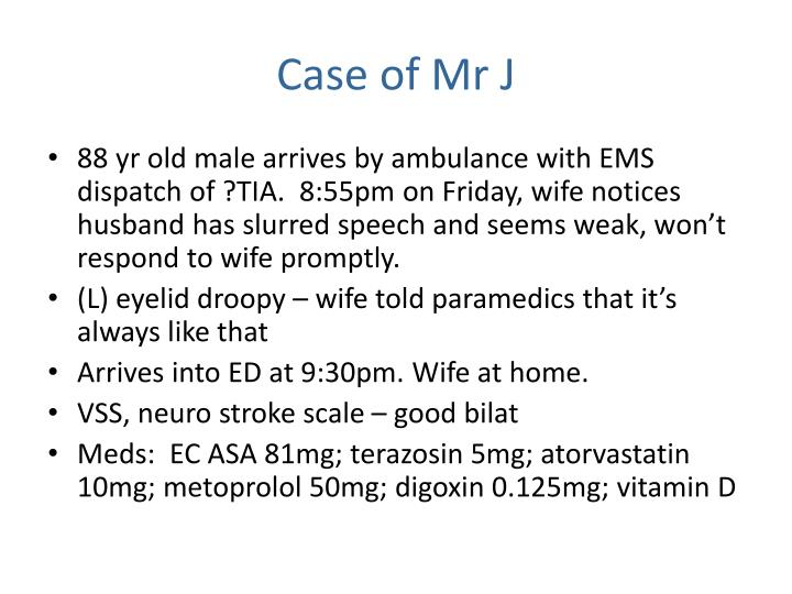 Case of Mr J