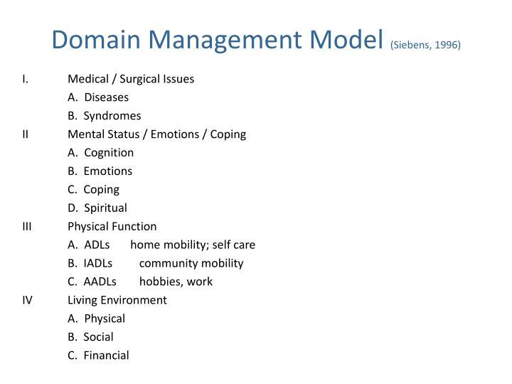 Domain Management Model