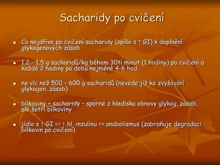 Sacharidy po cvičení