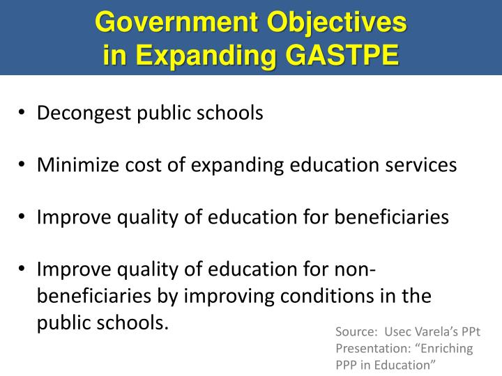 Government Objectives